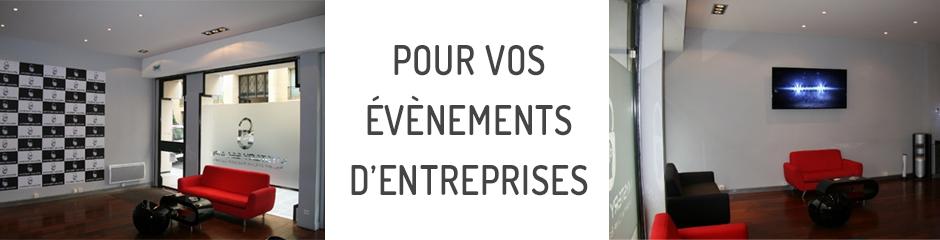 Pour vos évènements d'entreprises